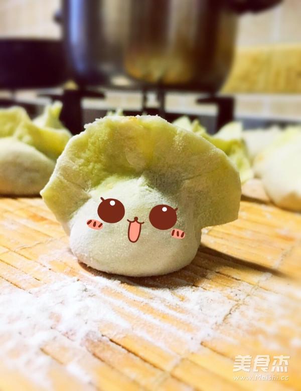 白菜造型饺子的做法_家常白菜造型饺子的做法【图】