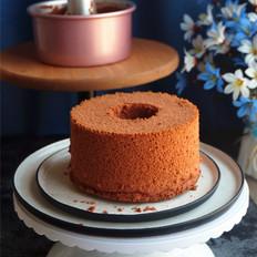7寸红丝绒中空戚风蛋糕