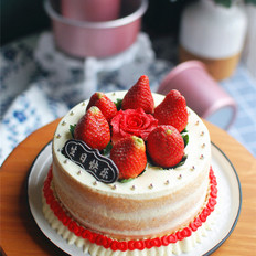6寸草莓裸蛋糕