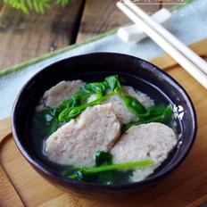 #四川特色#豌豆尖圆子汤