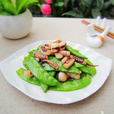 八爪鱼炒荷兰豆