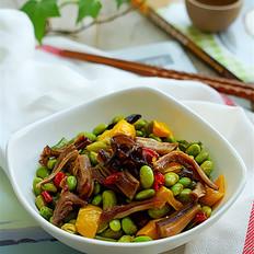 猪肚炒毛豆