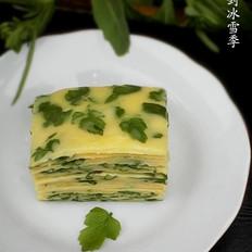 野芹菜叶鸡蛋饼