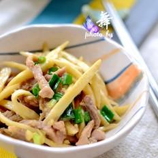 蒜香茭白炒肉丝