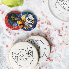 京剧猫白糖糖霜饼干