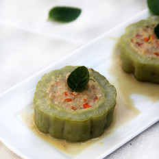 瘦肉豆腐酿苦瓜