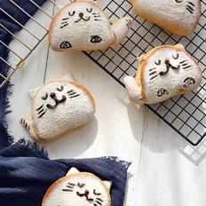 可爱猫--全麦蜂蜜小面包