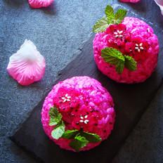火龙果花样饭团#铁釜烧饭就是香#