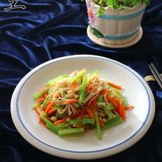 芹菜拌金针菇