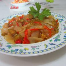 酸辣椒拌玉米粉皮