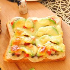 牛油果土司披萨  宝宝健康食谱