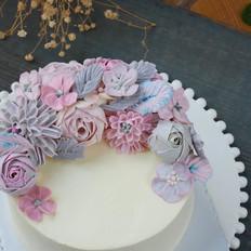完美海绵奶酪裱花蛋糕