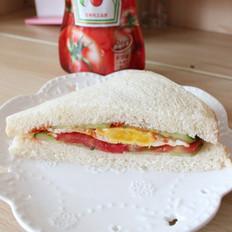 营养早餐三明治