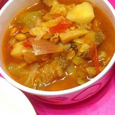 番茄什锦牛肉汤