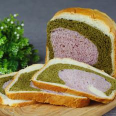 【纯天然三色吐司】面包机版