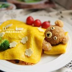 萌萌的小熊蛋包饭