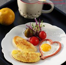 火腿鸡蛋馒头套餐