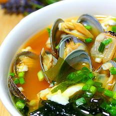 蛤蜊豆腐味噌汤