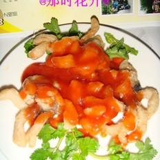 茄汁菊花鱼