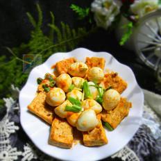 茄汁鹌鹑蛋煎豆腐