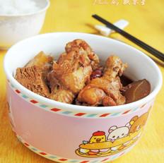 黄瓜冻豆腐炖鸡翅根