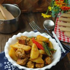 土豆焖鸡翅